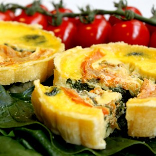 2 QUICHES FIT DE ESPINAFRES E TOMATE250G