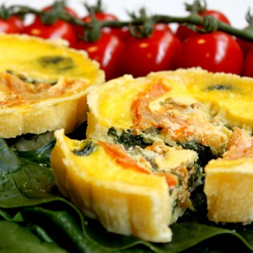 6 QUICHES FIT DE ESPINAFRES E TOMATE700G